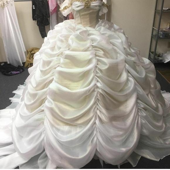 Belle Inspired Wedding Dress 54 Off Pbpgi Org